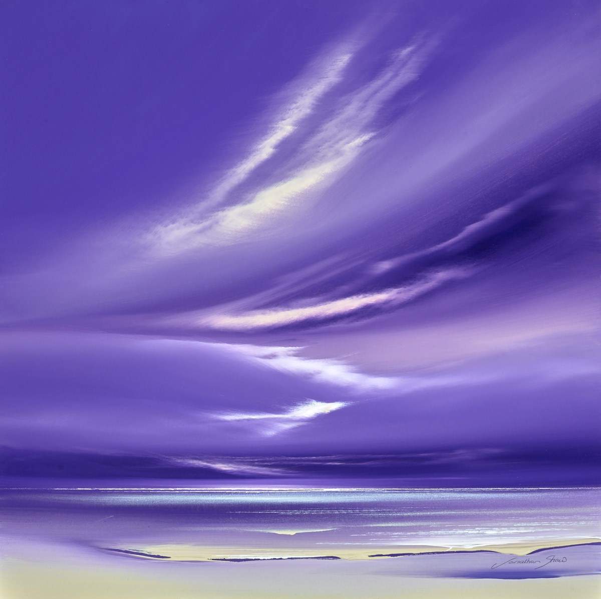 Lilac Sky IV by jonathan shaw -  sized 20x20 inches. Available from Whitewall Galleries